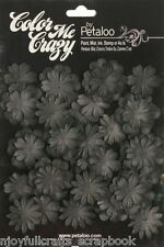 BLACK CMC Chalkboard Mini Delphiniums Paper Flower Petals 20-30mm 2sizes Petaloo