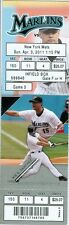 2011 Marlins vs Mets Ticket: Willie Harris and Ike Davis homered/R.A. Dickey Win