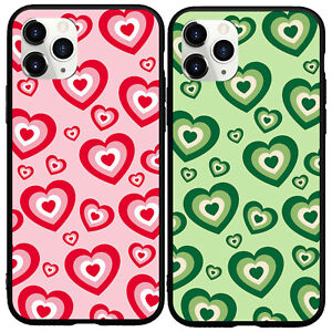 Chocolate Hearts Love Phone Cover Case For iphone 11 12 Pro Max XR 6 7 8 Plus