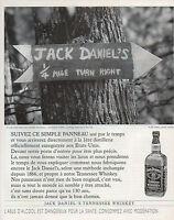 Publicité Advertising 1996  WHISKY  JACK DANIEL'S  boisson apéritif  ... ...