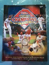 2009 Philadelphia Phillies Official Spring Training Program World Champions