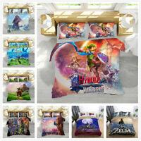 3D The Legend of Zelda Link Duvet Cover Bedding Set Comforter Cover Pillowcase