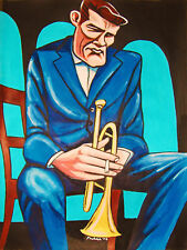 CHET BAKER PRINT poster jazz trumpet let's get lost cd concierto deep in a dream