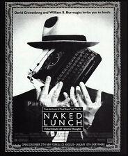 NAKED LUNCH__Original 1992 Print AD movie promo__DAVID CRONENBERG__Peter Weller