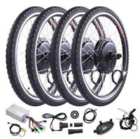 "26"" Front Rear Wheel Conversion Kit 48v 1000w Motor Hub Electric Bicycle E Bike"