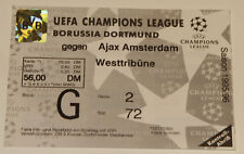 Ticket for collectors CL BVB Borussia Dortmund Ajax Amsterdam Germany Holland