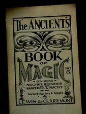 Ancient's Book of Magic 1940 Claremont Rare Occult