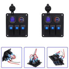2x3Gang LED Schaltpanel Voltmeter +USB12V-24V Schalter Schalttafel für Wohnwagen