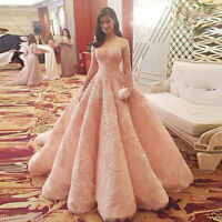 Luxury Pink Quinceanera Wedding dress Bridal Gown Pageant Prom Prom Dresses 2019