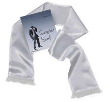 Long White Gangster Scarf Al Capone Mobster Fancy Dress