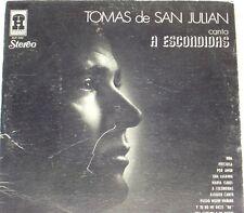 Tomas de San Julian Canta  a Escondidas    LP