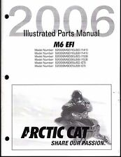 2006 ARCTIC CAT SNOWMOBILE M6 EFI  PARTS MANUAL P/N 2257-428  (688)