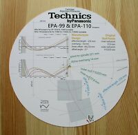 Technics EPA-99 & EPA-110 Custom Designed Tonearm Cartridge Alignment Protractor