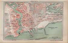 Carte City Map 1893: plan de la ville: Brest. échelle: 1: 16.000