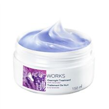 4 x Avon Foot Works Beautiful Comforting Overnight Massage Cream, Lavender 150ml