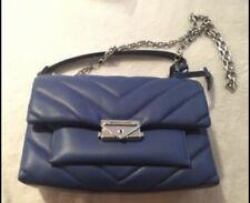 Michael Kors Cece Medium Quilted Leather Crossbody Bag/Purse - Blue
