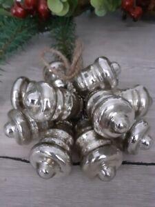 Glasglocken Bauernsilber, Dekoration, Advent, Weihnachten, Wohnen