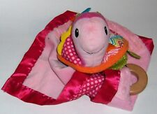 Security Blanket =2012  Infantino  -pink turtle - teethers -( bells rattle)