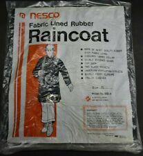 Vintage Nos Deadstock Nesco Reversible Fabric Lined Rubber Raincoat 9514 Medium