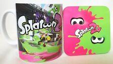 Splatoon 2 Nintendo Switch Themed Coffee MUG CUP + Coaster - Wood - Gaming