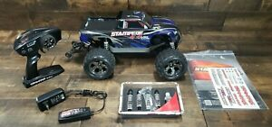 Traxxas Stampede 4X4 VXL Brushless 1/10 RC Monster Truck w/ Controller Pre-owned