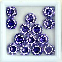 Purple Sapphire Loose Gemstone Lot 56 Ct/14 Pcs Natural AGSL Certified Round Cut