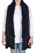 WORTH NEW YORK Solid Black RABBIT & WOOL Womens Shawl Vest - XP