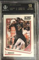 "*RARE* LAMAR JACKSON ROOKIE ""BLACK.LABEL""  BGS.10.  2018 PANINI SCORE.  POP.1"