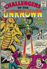 Challengers of The Unknown #19 1961 DC Silver Age Sci-Fi Horror Comic Book Fine