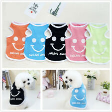 Small Puppy Dog Cat Clothes Cute Smiling Vest Teddy Shirt Clothing Apparel Coat