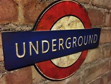 UNDERGROUND Sign Tube LONDON Transport Plaque Wall Mounted Art Door Vintage *NEW
