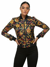 NEW TRUE RELIGION 202455 WOME'S BAROQUE PRINT BOMBER JACKET SIZE XS RRP £199
