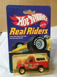 Hot Wheels BRONCO 4-WHEELER Real Riders #4355 1982 white hubs