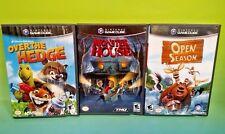 Disney Over the Hedge, Open Season, Monster House Nintendo GameCube Tested Games