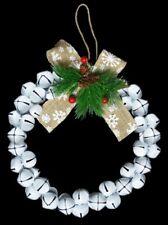 30cm Original Jingle Bell Wreath -  White Wreath