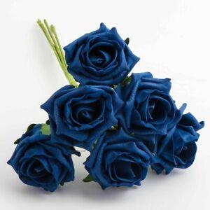 FOAM ROSES 4.5CM-7CM Bunch Colourfast Artificial Wedding Bouquet Flowers Stem