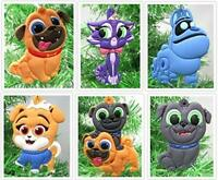 Puppy Dog Pals Christmas Tree Ornament Set Featuring Bingo and Friends BRAND NEW