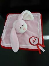 S6- DOUDOU PLAT HAPPY HORSE LAPIN ROSE ROUGE 24  - EXCELLENT ETAT