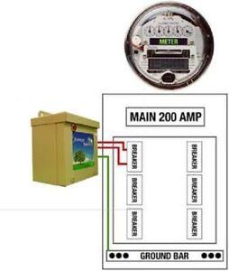 KVAR Energy Saver Power Factor Correction Unit Home Surge Protector (150 Amp)