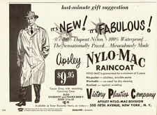 1950s vintage AD, Apsley Nylo-Mac Raincoat Victory Plastics Co.  072214