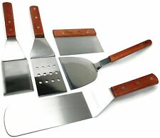 Acero Ware® 5pc Grill Set Spatula Turner Scraper Chopper Griddle Teppan BBQ SS
