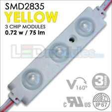 100pc 0.72W SMD2835 (Yellow) 160° UL Waterproof LED Module /LED-Factory (#2184)