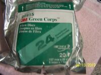 """01915 3M 5/"""" 24 GRIT Green Corps Fibre Sandpaper Grinding Disc 20 in a box 1915"""