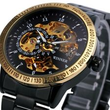 HOT Men's Automatic Watch Self-winding Skeleton Mechanical Stainless Steel