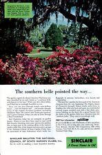 Vintage print ad Gas Oil Sinclair 1956 Magnolia Gardens Charleston S C Belle ad