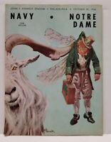 1966 Notre Dame Irish Navy Midshipmen Football Program Hanratty Seymour Bleier