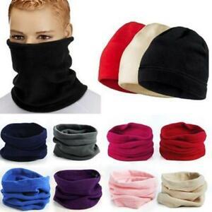 Men Women's Winter Fleece Snood Scarf Neck Warmer Thermal Ski Beanie Hat Cap US