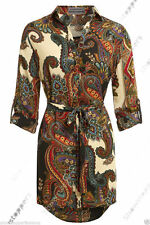 Polyester Paisley Machine Washable Casual Dresses for Women