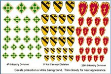 1st Cavalry Division 4th and 25th Infantry Div Decals 1/35 1/48 1/24 1/16 1/25