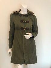 Miss Selfridge Khaki Parka Coat/Jacket Size UK 8